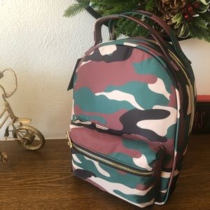Camouflage backpack purse